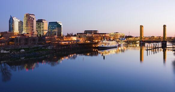 Sacramento River Downtown Sacramento, California