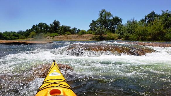 Kayaking on the American River Folsom, California