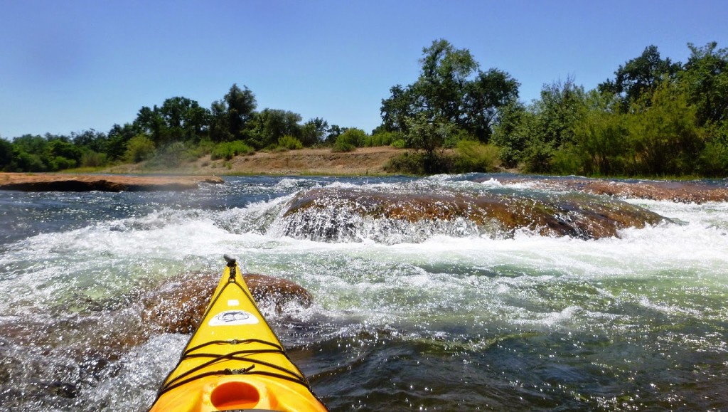 Kayaking on the American River Folsom, California