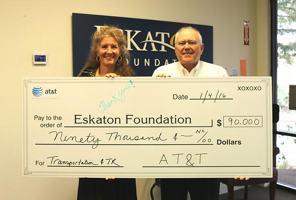Generous Donation to Eskaton from AT&T