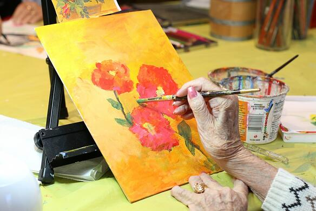 Art Therapy at Eskaton Village Grass Valley