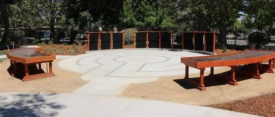 therapeutic and healing garden at eskaton care center greenhaven