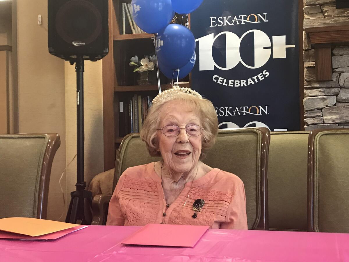 Eskaton Village Placerville Woman Turns 104