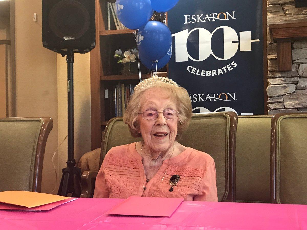 Eskaton Village Placerville Woman Turns 104