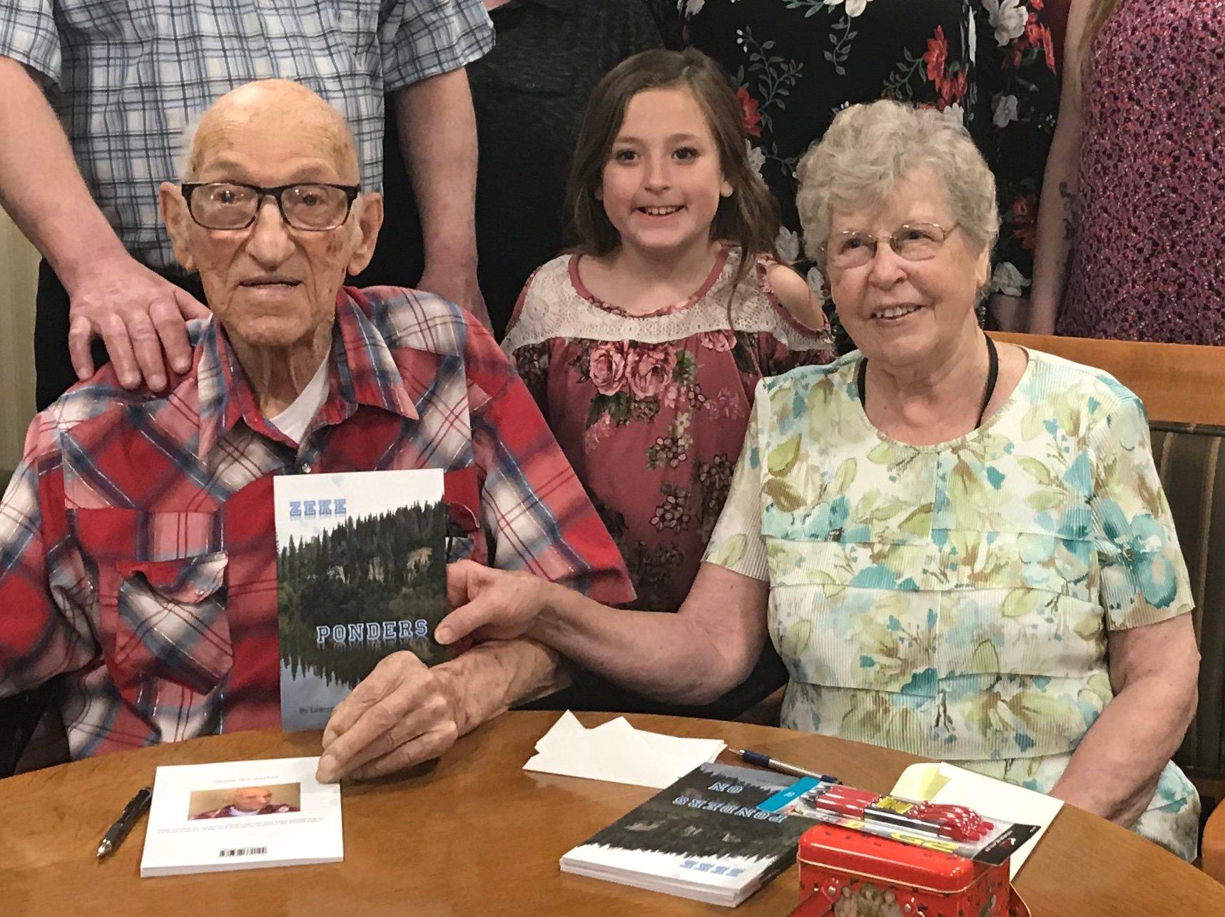 Zeke book signing
